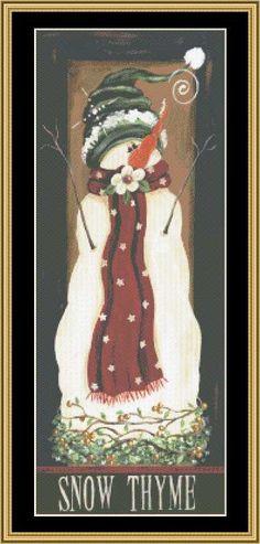 Snow Thyme [JM-89] - $16.00 : Mystic Stitch Inc, The fine art of counted cross stitch patterns