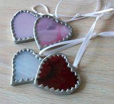 Glass hearts.