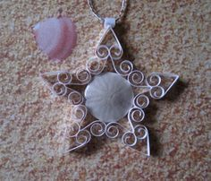 Sand Dollar Ornament 'Sandcastle' Mini Quilled by ForeverFiligree, $6.25