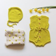 Outfit of the day: Tulipa Overall, Viola Sweater and Danica Bonnet in Lime/ Vanilla. #kalinkakids