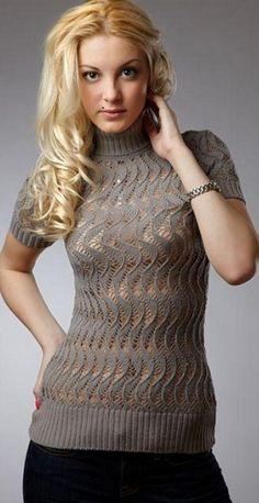 Небольшая подборочка пуловеров и безрукавочка:) - Вязание спицами - Страна Мам