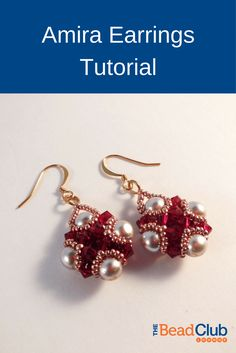 These gorgeous earrings are the embodiment of glitz and glamour!  The tutorial is perfect for all skill levels and includes detailed step-by-step instructions written in English with close-up full-colour photos.