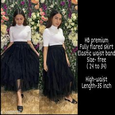 Checkout this latest Skirts Product Name: *High-Buy mesh net full flare high waist skirt - strechable waist from 24 to 34- black* Fabric: Net Pattern: Solid Multipack: 1 Sizes:  Free Size (Waist Size: 30 in, Length Size: 35 in)  Easy Returns Available In Case Of Any Issue   Catalog Rating: ★4.1 (355)  Catalog Name: Gorgeous Feminine Women Western Skirts CatalogID_1991265 C79-SC1040 Code: 146-10808679-7371