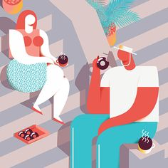 Josh McKenna is an East London based illustrator and designer inspired by everything tropical. His bold geometric shapes, bright colors, and voluptuous vacationing characters give his portfolio a w...