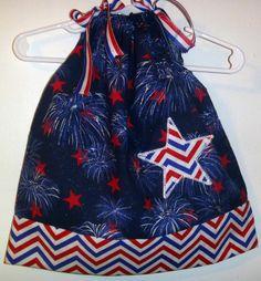 of July Pillowcase Dress Barbie Dress, Barbie Clothes, 4th Of July Outfits, Kids Outfits, Little Girl Dresses, Girls Dresses, Maxi Dress Tutorials, Bandana Dress, Fleece Hats