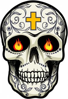 Sticker Calavera - Tete De Mort Mexicaine 16 - ref.d7454 | MPA Déco Sugar Skull Tattoos, Sugar Skull Art, Caveira Mexicana Tattoo, Ace Of Spades Tattoo, Spade Tattoo, Mexican Tattoo, Totenkopf Tattoos, Halloween Silhouettes, Day Of The Dead Skull