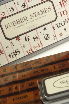 Classic Numbers & Symbols Rubber Stamp Set by Cavallini