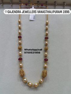 Beautiful golds pearl long haaram with Lakshmi Devi small motifs. 22 January 2019 Beautiful golds pearl long haaram with Lakshmi Devi small motifs. Small Pearl Necklace, Diy Jewelry Necklace, Beaded Jewelry, Gold Necklaces, Jewellery Earrings, Bridal Jewellery, Handmade Jewellery, Gold Bangles, Gold Jewelry Simple