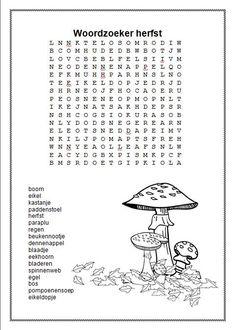 Woordzoeker Herfst Wil je de woordzoeker in een Word-bestand? Stuur me dan even een berichtje