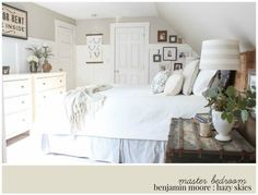 Benjamin Moore Hazy Skies, master bedroom paint color | Rooms FOR Rent Blog