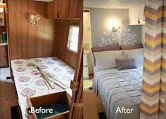Camper Make-over: Wow, this is what you can do without completely changing the floor plan. It looks wonderful.