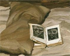 Still-Life with a Book - Lucian Freud, 1992