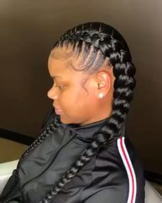 _ for more pins black ish star yara shahidi rocks waist length braids in season 2 Box Braids Hairstyles, Black Girl Braided Hairstyles, Dope Hairstyles, Braids For Black Hair, Braids For Black Women Cornrows, 2 Braids With Weave, Curly Hair Styles, Natural Hair Styles, Feed In Braid