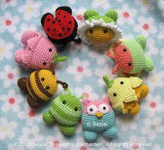 Sayjai amigurumi crochet patterns ~ K and J Dolls / K and J Publishing: Garden Pals: New easy Amigurumi crochet pattern