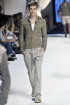 Dolce & Gabbana  Spring 2011 - lattice-weave suede blouson jacket