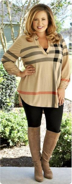 Casual but comfy plus size fall outfits ideas 61