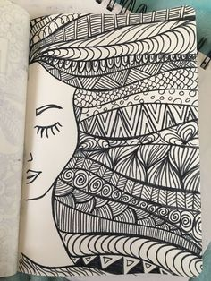 Doodle page!Doodle page!Girl hair zentangle drawing with marker - desenho drawing girl Hair marker Girl hair zentangle drawing with marker - desenho drawing girl Hair marker Doodle page! Doodle page! Girl hair zentangle drawing with Doodle Art Drawing, Zentangle Drawings, Mandala Drawing, Pencil Art Drawings, Art Drawings Sketches, Zentangle Patterns, Zentangle Art Ideas, Sharpie Drawings, Sharpie Doodles