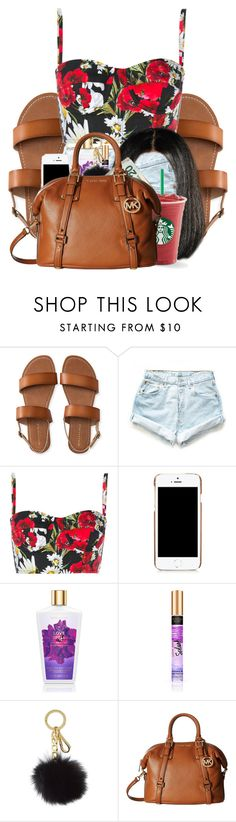 """""""Starbucks today ."""" by royaltyvoka ❤ liked on Polyvore featuring Aéropostale, Levi's, Dolce&Gabbana, Moschino, Michael Kors and MICHAEL Michael Kors"""