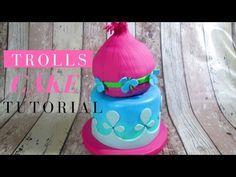Trolls Cake ENG | Delicious Sparkly Cake - YouTube
