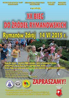 Towarzystwo Sportowe TYTUS zaprasza dzieci i młodzież do udziału w XX Biegu Do Źródeł Rymanowskich, szczegóły na plakacie: