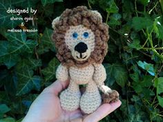 Amigurumi To Go!: Little Bigfoot Lion Free Crochet Lion Pattern