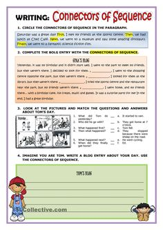 A collection of English ESL Storytelling worksheets for home learning, online practice, distance learning and English classes to teach about English Class, English Lessons, Teaching English, Learn English, English Teachers, English Grammar Worksheets, Writing Worksheets, Tenses English, Printable Worksheets