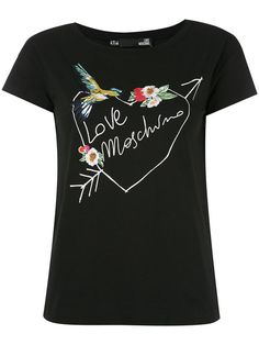 LOVE MOSCHINO Embroidered T-Shirt. #lovemoschino #cloth #t-shirt