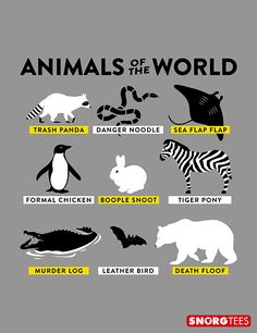 """Animals of the World"" funny t-shirt"