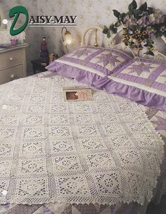 Daisy May Annie's Attic Crochet Quilt & Afghan Pattern