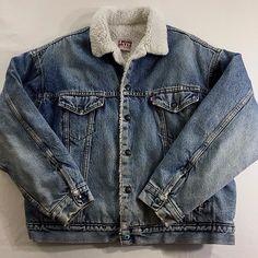 Hard to find, vintage Levis sherpa fleece lined denim jacket. Check it out!