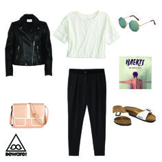 #Fashion Selection n°72 : American Apparel top, Rag & Bone trousers, River Island jacket, Mod Cloth purse, Top Shop sunglasses, Birkenstock sandals, Haerts sound : http://bewaremag.com/2014/03/16/selection-mode-72/