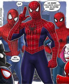 Into The Spider-Verse hopefully. Amazing Spiderman, New Spiderman Movie, Spiderman Pictures, Chibi Marvel, Marvel Dc Comics, Marvel Heroes, Marvel Avengers, Spiderman Marvel, Spider Verse