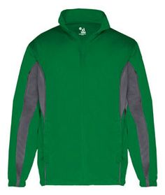 Badger Drive Youth Jacket B2703 Kelly Green/ Graphite