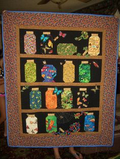 Canning Jar Quilt--I have been saving fabric for years to make one of these. Description from pinterest.com. I searched for this on bing.com/images