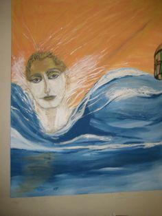 Joven Neptuno 2012, oleo sobre lienzo.