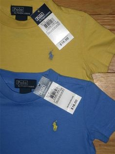 NWT  Polo Ralph Lauren baby boy's shirts size 12 months  !