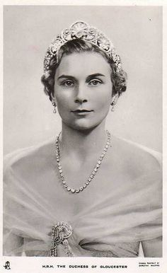 Alice, Duchess of Gloucester, was the oldest member of the British royal family in history. The aunt of Queen Elizabeth died in 2004 at age 102. She's wearing the Gloucester Honeysuckle Tiara.