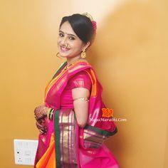 Marathi Nath, Marathi Bride, Jennifer Winget, Indian Sarees, Indian Actresses, Blouse Designs, Beautiful Outfits, Sari, Culture