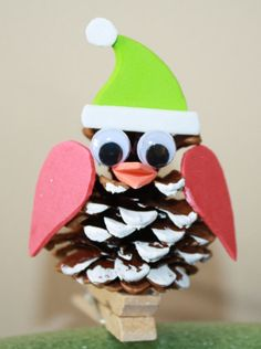Hey, I found this really awesome Etsy listing at https://www.etsy.com/listing/166524339/christmas-pine-cone-owl-kit-pk-of-6