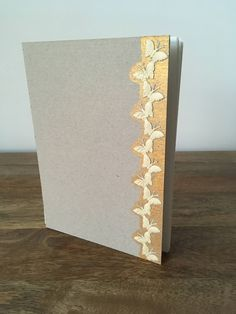 Handmade A5 notebook, handsewn with raw-boards by TinyShopOfStuff on Etsy