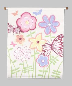 Take a look at this Fun Flowers Canvas Banner by Renditions by Reesa on #zulily today!