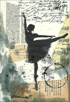 Items similar to print art canvas christmas gift poster mixed media sketch collage painting illustration ballet one autographed by Emanuel M. Ologeanu on Etsy - Print canvas sketch Christmas gift poster Collage Kunst, Art Du Collage, Wall Collage, Artwork Prints, Canvas Art Prints, Rock Kunst, Video Nature, Lightroom, Sketchbook Cover