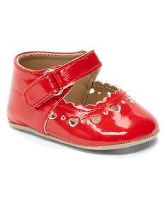 Love this Red Heart-Trim Crib Shoe on #zulily! #zulilyfinds