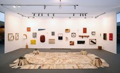 """Show of work by Kishio Suga by Plum & Poe at Frieze Masters 2013. Leading figure of Mono-ha """"the school of things"""" Japanese art movement of the late 1960s."""