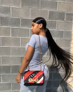 Having brief fashionable hairdos makes you look hip and taking place. You can adopt a short hairdo easily since they go with every dress. Black Ponytail Hairstyles, Hair Ponytail Styles, Dope Hairstyles, Curly Hair Styles, Hairstyles Videos, Ponytail With Weave, Low Ponytails, Black Hairstyles With Weave, Beach Hairstyles