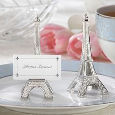 Evening in Paris Eiffel Tower Wedding Place Card Holder