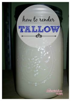 how to render tallow at home