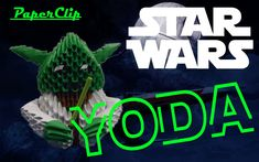 Origami 3d | YODA Jak Zrobić | How to make a YODA | PaperClip | ENG Subtitles | STAR WARS