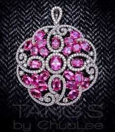 Inspired by the beautiful cherry blossoms, this Pink Sapphire and Diamond medallion pendant will surely add colour and character to your outfit Diamond Pendant Necklace, Pendant Jewelry, Pendant Set, Sapphire Jewelry, Diamond Jewelry, Pink Bling, Diamond Are A Girls Best Friend, Art Deco Diamond, Necklace Designs