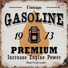Chapa Vintage Gasoline vintage